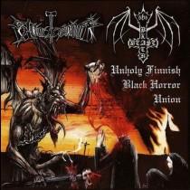 BLACK BEAST / BLOODHAMMER - Unholy Finnish Black Horror Union LP