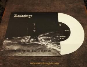 """DAUDADAGR - Vid skuggornas svarta månsken 7"""" EP"""