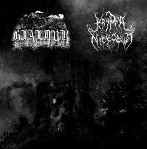 GJALDUR / KRYPTA NICESTWA - Von alten Gräbern / Krypta nicestwa Split LP